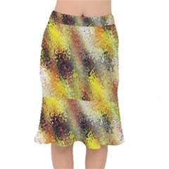 Multi Colored Seamless Abstract Background Mermaid Skirt