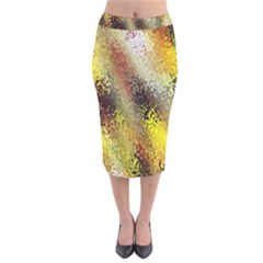 Multi Colored Seamless Abstract Background Velvet Midi Pencil Skirt