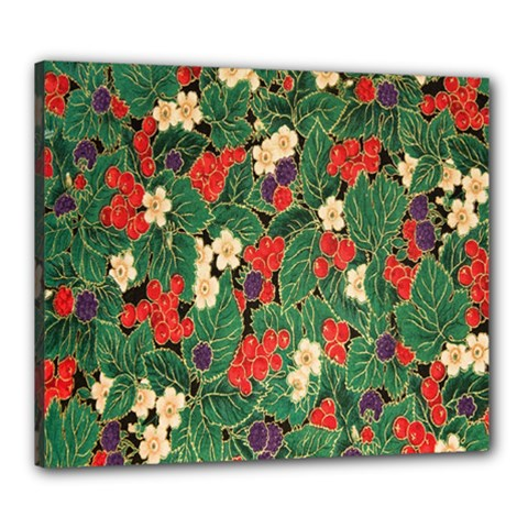 Berries And Leaves Canvas 24  X 20