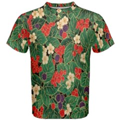 Berries And Leaves Men s Cotton Tee