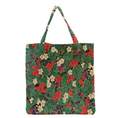 Berries And Leaves Grocery Tote Bag