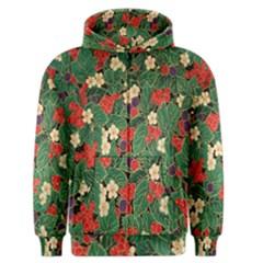 Berries And Leaves Men s Zipper Hoodie