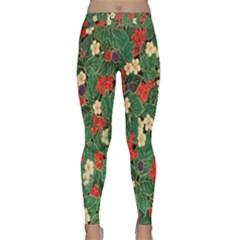 Berries And Leaves Classic Yoga Leggings