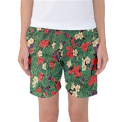Berries And Leaves Women s Basketball Shorts