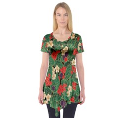 Berries And Leaves Short Sleeve Tunic
