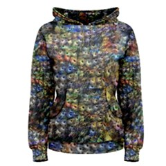 Multi Color Peacock Feathers Women s Pullover Hoodie