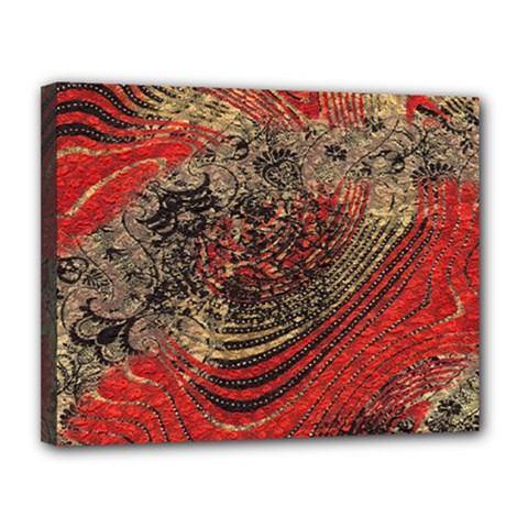 Red Gold Black Background Canvas 14  X 11