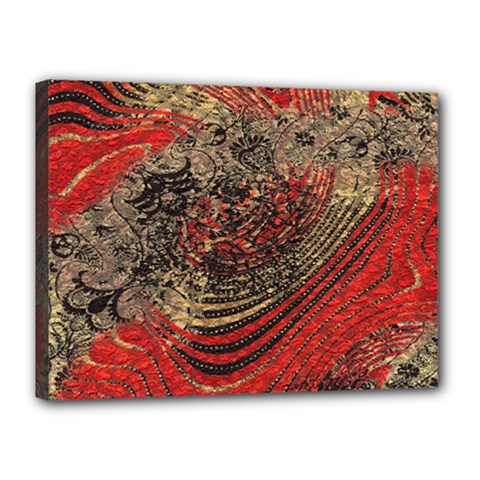 Red Gold Black Background Canvas 16  X 12