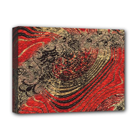Red Gold Black Background Deluxe Canvas 16  x 12