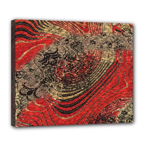 Red Gold Black Background Deluxe Canvas 24  x 20