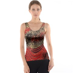 Red Gold Black Background Tank Top