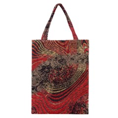 Red Gold Black Background Classic Tote Bag