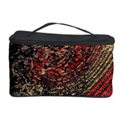 Red Gold Black Background Cosmetic Storage Case