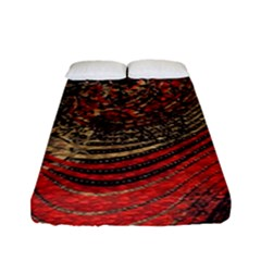 Red Gold Black Background Fitted Sheet (full/ Double Size)