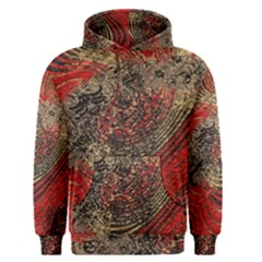 Red Gold Black Background Men s Pullover Hoodie