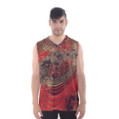 Red Gold Black Background Men s Basketball Tank Top