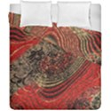 Red Gold Black Background Duvet Cover Double Side (California King Size) View1