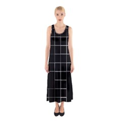 Abstract Clutter Sleeveless Maxi Dress