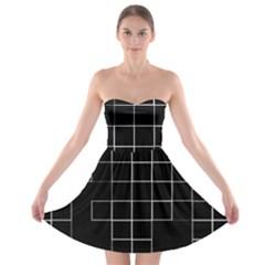 Abstract Clutter Strapless Bra Top Dress