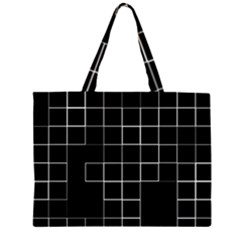 Abstract Clutter Zipper Large Tote Bag