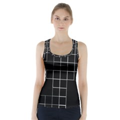 Abstract Clutter Racer Back Sports Top