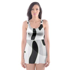 Abstract Venture Skater Dress Swimsuit