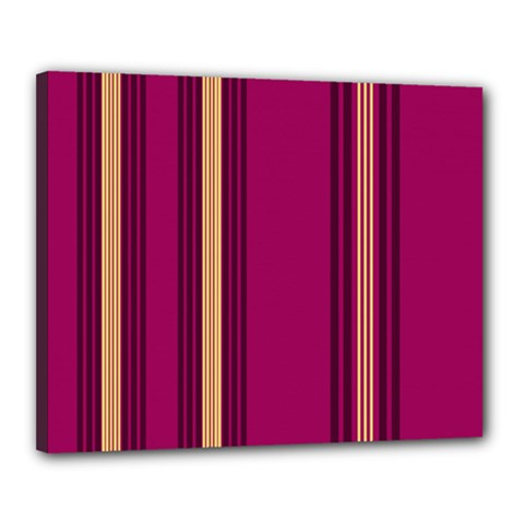 Stripes Background Wallpaper In Purple Maroon And Gold Canvas 20  X 16