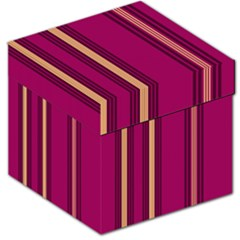 Stripes Background Wallpaper In Purple Maroon And Gold Storage Stool 12