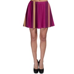 Stripes Background Wallpaper In Purple Maroon And Gold Skater Skirt