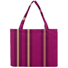 Stripes Background Wallpaper In Purple Maroon And Gold Mini Tote Bag