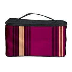 Stripes Background Wallpaper In Purple Maroon And Gold Cosmetic Storage Case