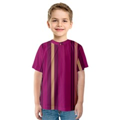 Stripes Background Wallpaper In Purple Maroon And Gold Kids  Sport Mesh Tee