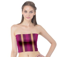 Stripes Background Wallpaper In Purple Maroon And Gold Tube Top