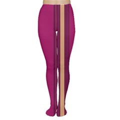 Stripes Background Wallpaper In Purple Maroon And Gold Women s Tights
