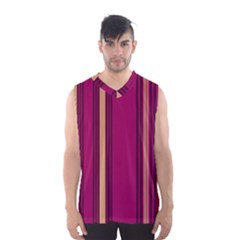 Stripes Background Wallpaper In Purple Maroon And Gold Men s Basketball Tank Top
