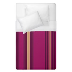 Stripes Background Wallpaper In Purple Maroon And Gold Duvet Cover (single Size)