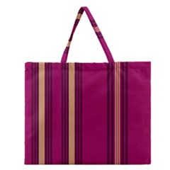 Stripes Background Wallpaper In Purple Maroon And Gold Zipper Large Tote Bag