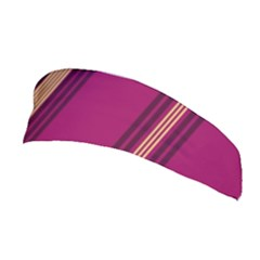 Stripes Background Wallpaper In Purple Maroon And Gold Stretchable Headband
