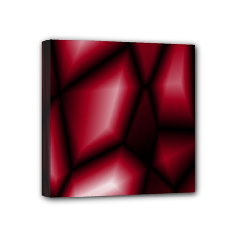 Red Abstract Background Mini Canvas 4  x 4