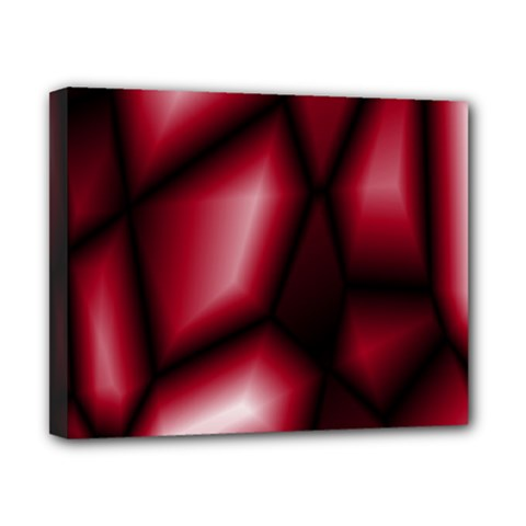 Red Abstract Background Canvas 10  X 8