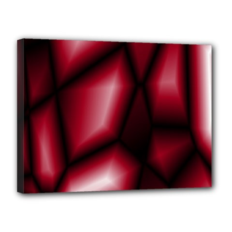 Red Abstract Background Canvas 16  X 12