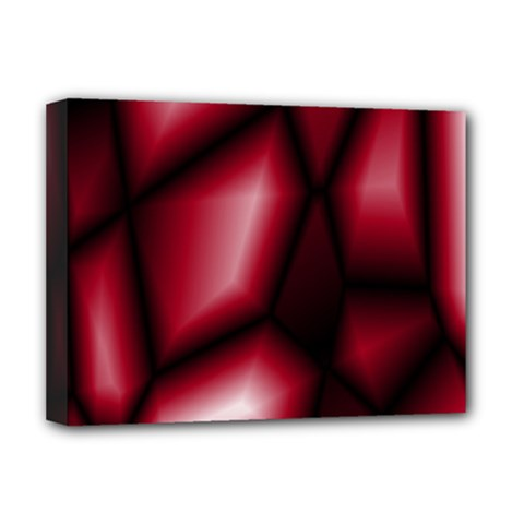 Red Abstract Background Deluxe Canvas 16  X 12