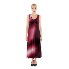 Red Abstract Background Sleeveless Maxi Dress