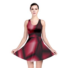 Red Abstract Background Reversible Skater Dress