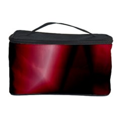 Red Abstract Background Cosmetic Storage Case