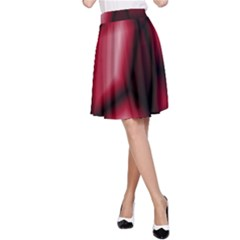 Red Abstract Background A-Line Skirt