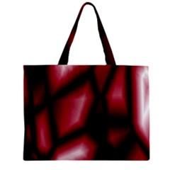 Red Abstract Background Zipper Mini Tote Bag