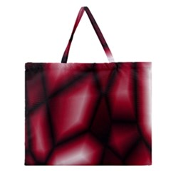 Red Abstract Background Zipper Large Tote Bag