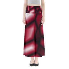 Red Abstract Background Maxi Skirts