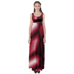 Red Abstract Background Empire Waist Maxi Dress